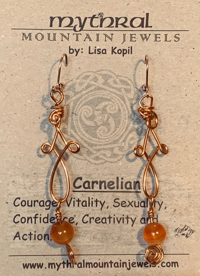 Earrings Gallery 2 Photo 9: Carnelian $30