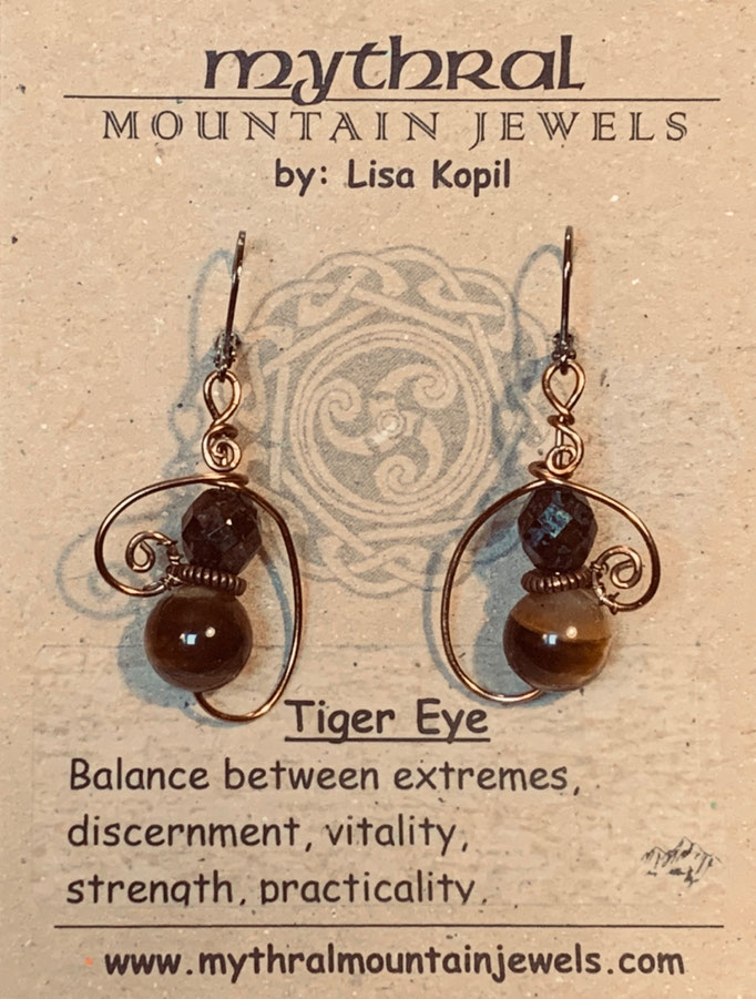 Earrings Gallery 1 Photo 13: Tiger Eye $30
