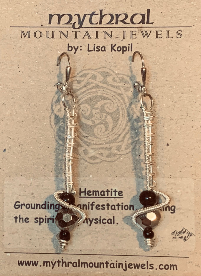 Earrings Gallery 1 Photo 7: Hematite $30