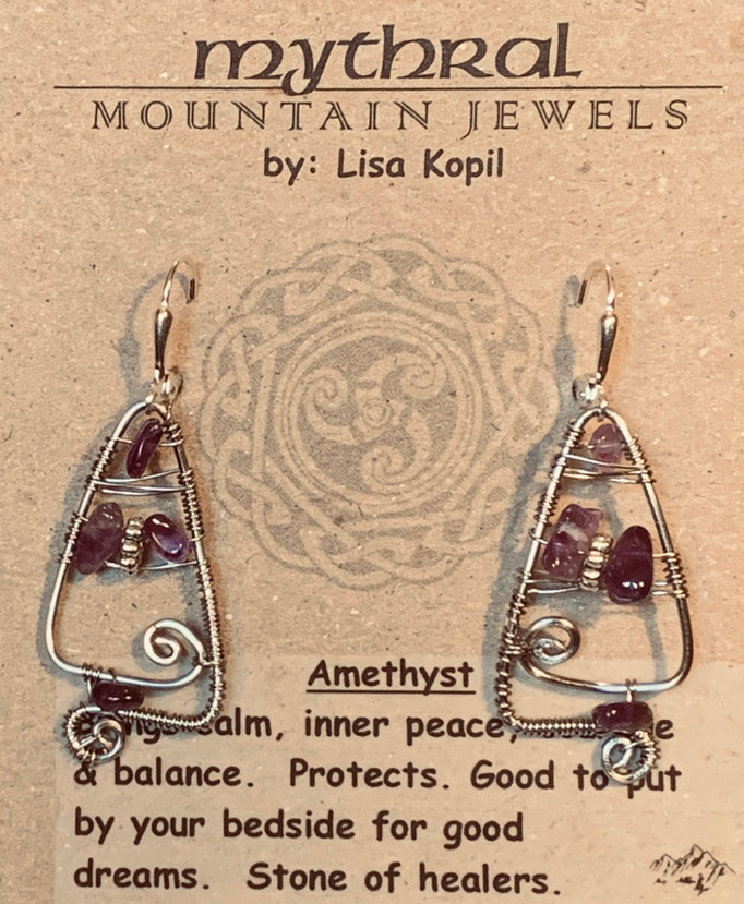 Earrings Gallery 2 Photo 21: Amethyst $30