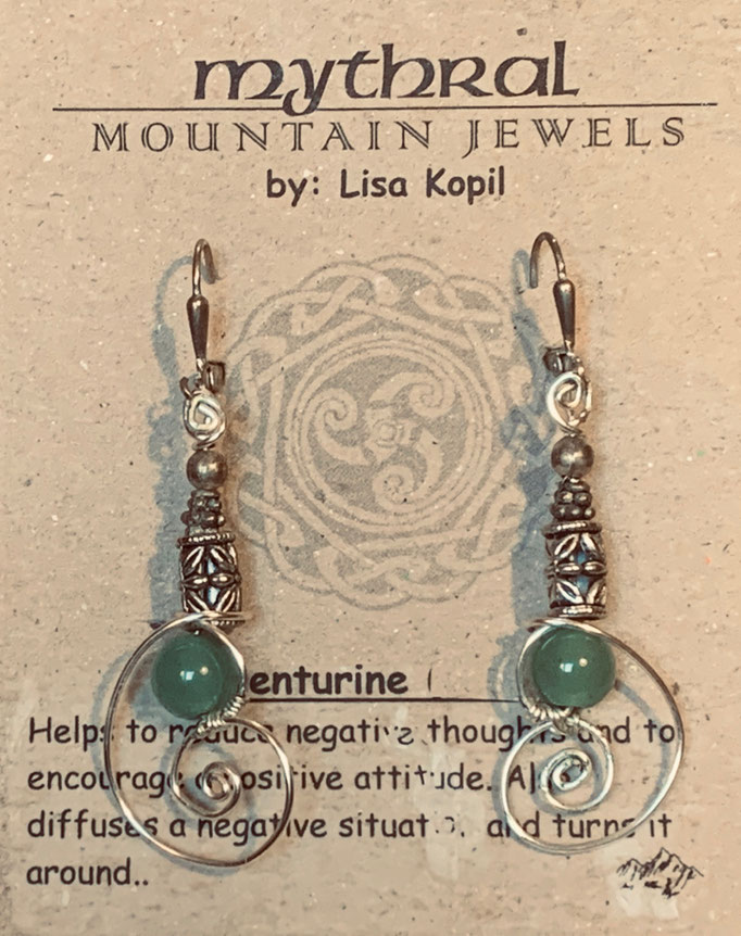 Earrings Gallery 1 Photo 8: Adventurine $30