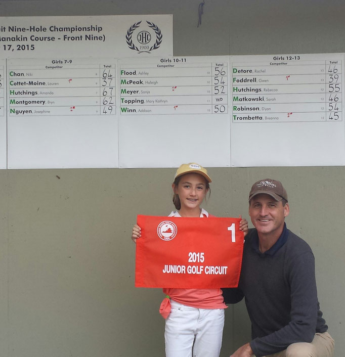 Lauren shot 37 to win the Inaugural Virginia State 13 and under 9 Hole Championship in October 2015.