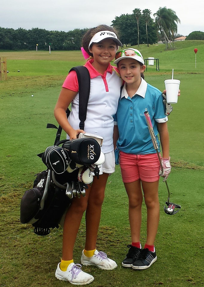 Alexa Pano, #1 ranked 10 year old in the country, with Lauren in Lake Worth Florida- Christmas 2014.