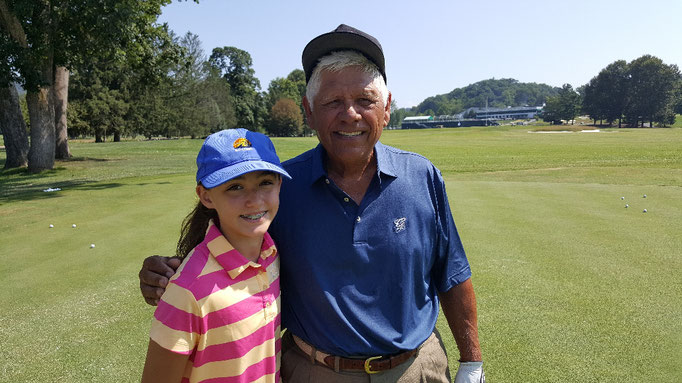 One of the Greatest Sportsman of All Time Lee Trevino with Mike's daughter Lauren at the Greenbrier in July 2017.
