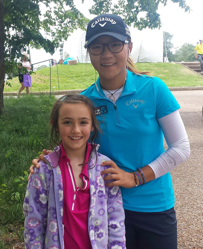 Soon to be ranked #1 woman in the world Lydia Ko with Lauren at Kingsmill in 2014.