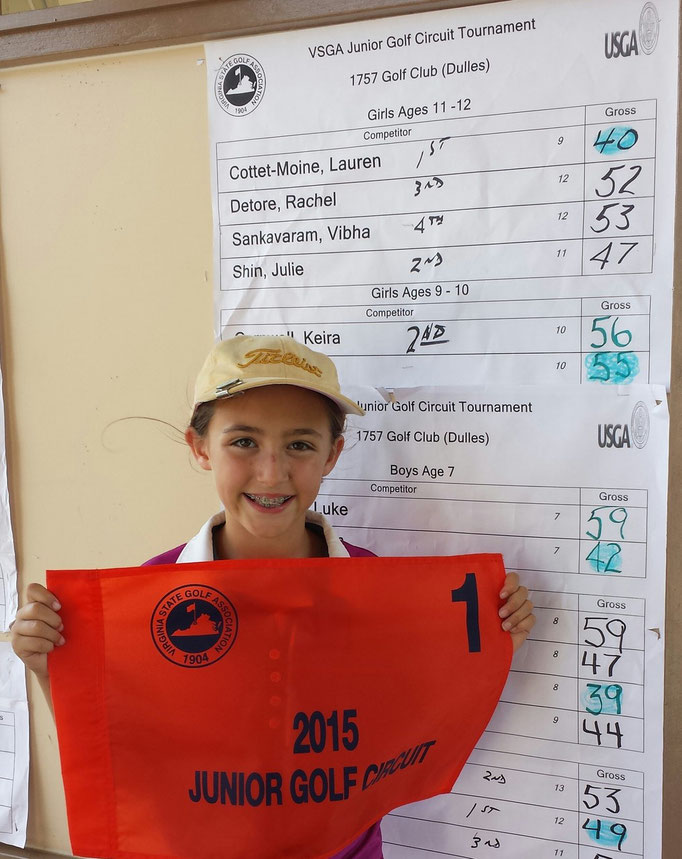 Lauren shot 40 to win the VSGA event at 1757 Club in July 2015.