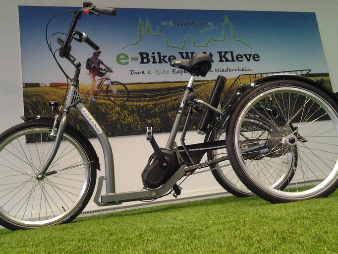 Neues Dreirad mit Mittelmotor ist im Dreirad Zentrum Kleve erhältlich