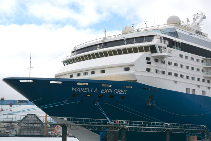 Marella Explorer heute im Kieler Hafen |©PORT OF KIEL