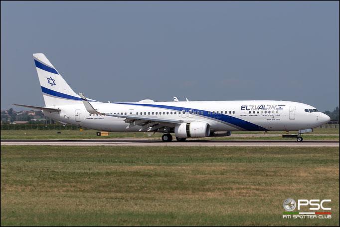 4X-EHF B737-958ER 41557/5772 El Al Israel Airlines  @ Aeroporto di Verona 08.2018  © Piti Spotter Club Verona