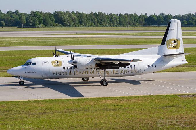 OO-VLN Fokker 50 20145 VLM Airlines - Vlaamse Luchttransport Maatschappij  @ Munich  05.2018 © Piti Spotter Club Verona