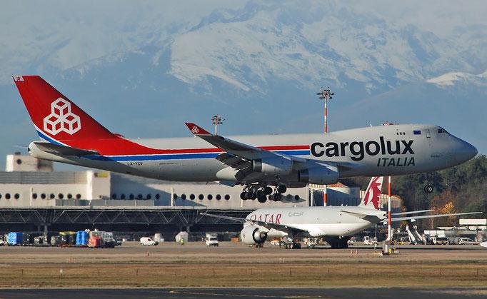 LX-YCV B747-4R7F 35805/1407 Cargolux Italia @ Milano Malpensa 12.2018 © Piti Spotter Club Verona