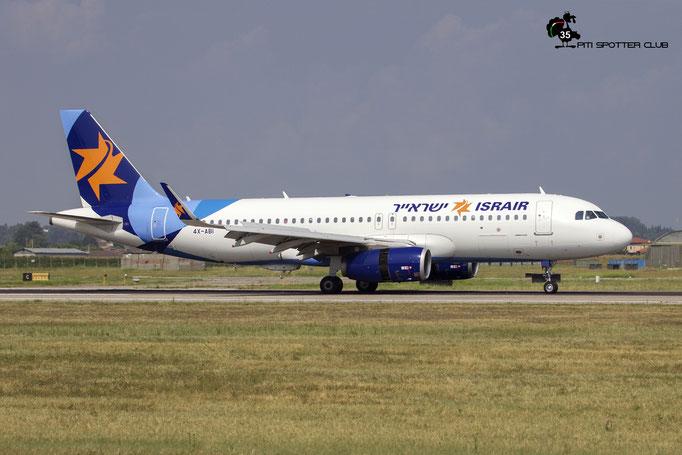 4X-ABI A320-232 7110 Israir @ Aeroporto di Verona 11.08.2018  © Piti Spotter Club Verona