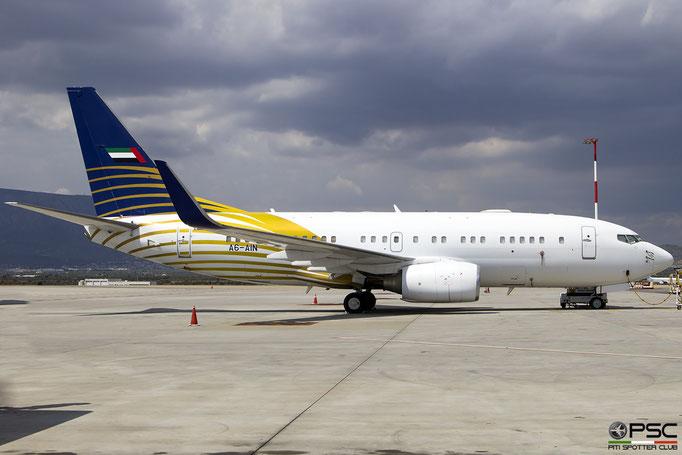 A6-AIN B737-7Z5 (BBJ1) 29268/280 Royal Jet @ ATH