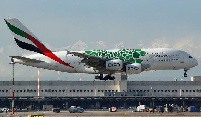 A6-EEX A380-861 154 Emirates @ MXP
