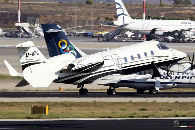 M-INNI Learjet 60XR 60-348 M-INNI Aviation Ltd. @ Atene 09.2018 © Piti Spotter Club Verona