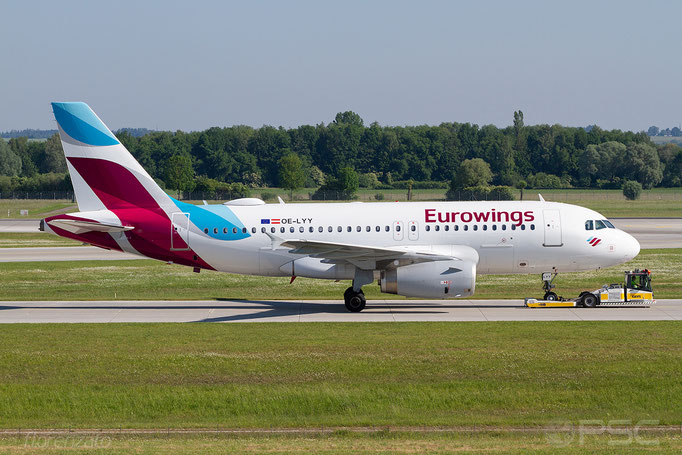 OE-LYY A319-132 4256 Eurowings Europe @ Munich  05.2018 © Piti Spotter Club Verona