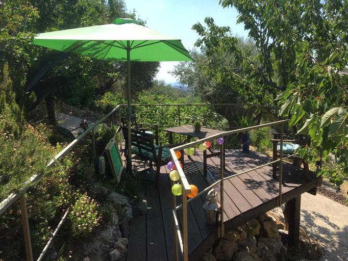 accès à la terrasse privative