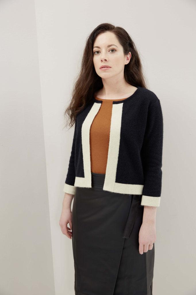 knitwear blazer cashmere