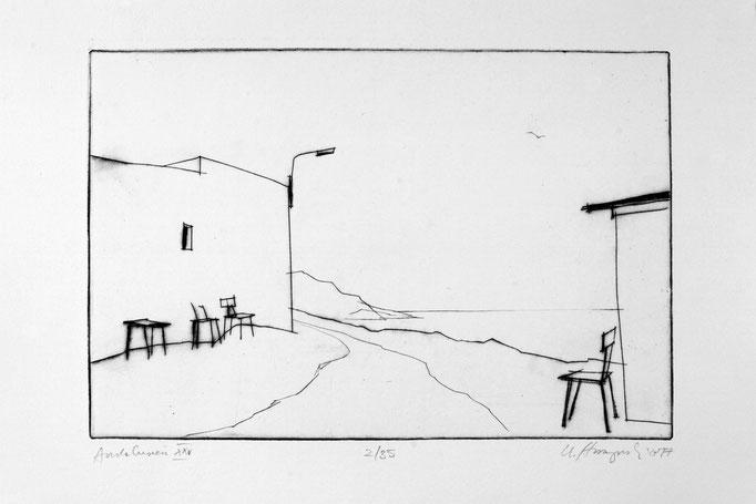 "Ursula Strozynski: ""Andalusiuen XXV"", Radierung, 2017"
