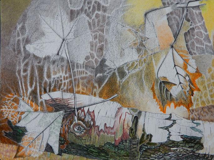 """Leonore Adler: """"Der schöne Tod"""", Zeichnung 2018 (Ausschnitt)"""
