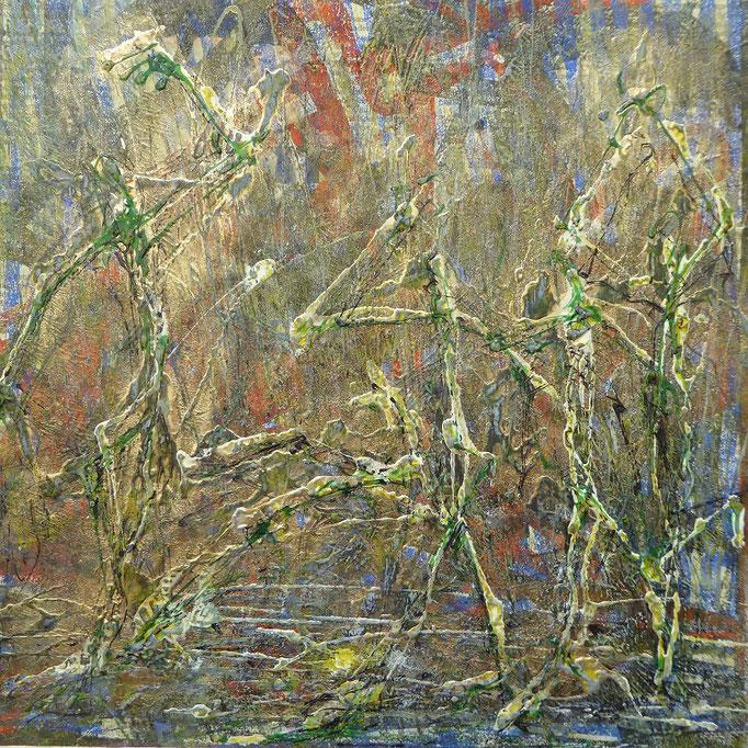 """Dieter Weise: """"Quadratur"""", Peinture venetre, 2018"""