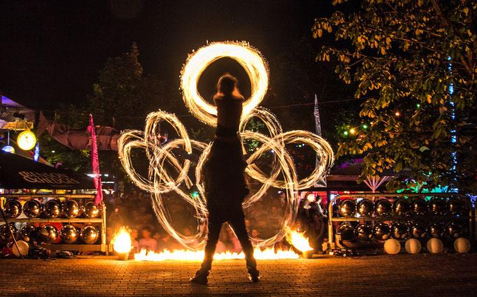 Feuershow in Stuttgart