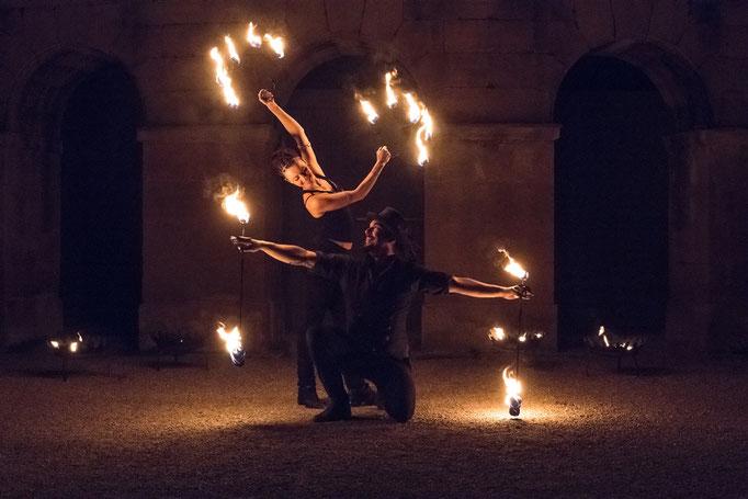 Feuerfächer und Candle-Poi