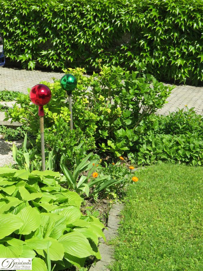 Cottage Garten Beet im Frühsommer