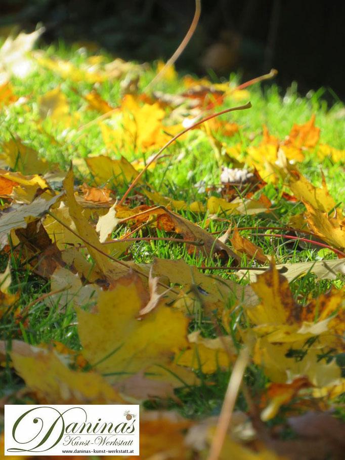 Im Naturgarten darf ein Teil des Laubs im Herbst liegen bleiben