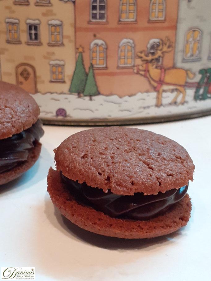Nero Schoko Kekse mit Pariser Creme. Weihnachtsplätzchen Konditorrezept by Daninas Dad