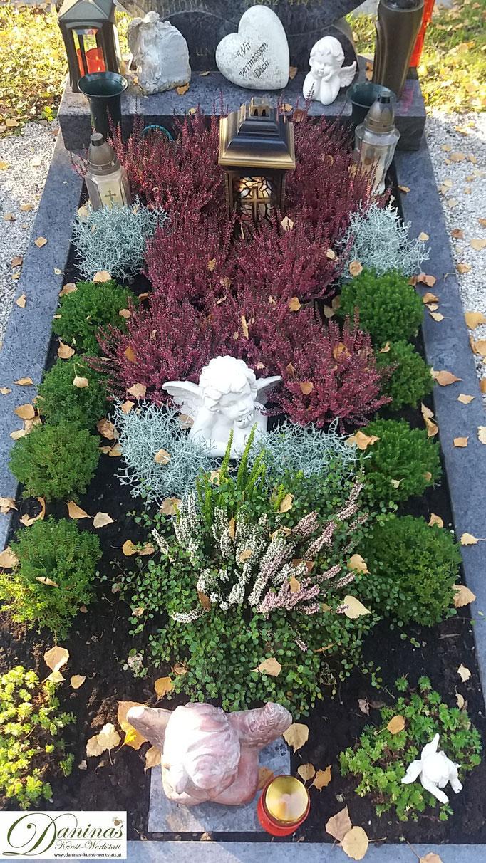 Herbstliche Grabbepflanzung  pflegeleicht selber machen.