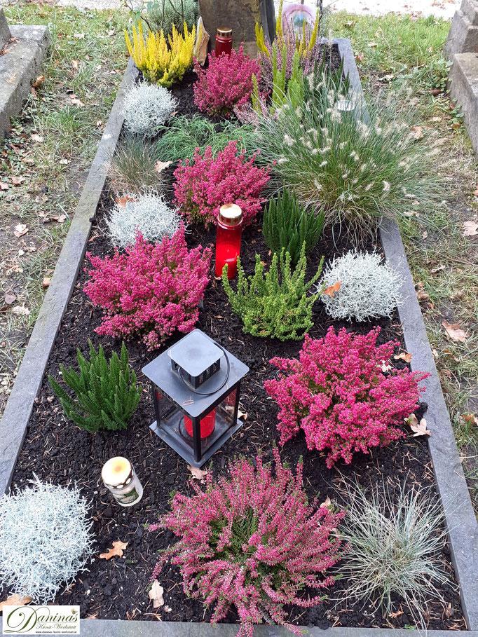 Grabbepflanzung im Herbst pflegeleicht. Beispiel zum Selbermachen.