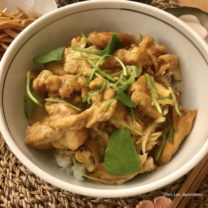 親子丼 Oyakodon Bol de riz au poulet et oeufs
