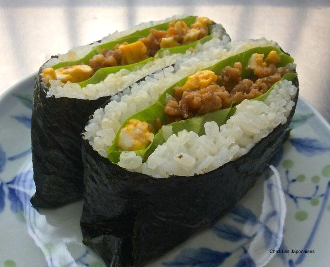 おにぎらず Onigirazu (Onigiri version Sandwich)