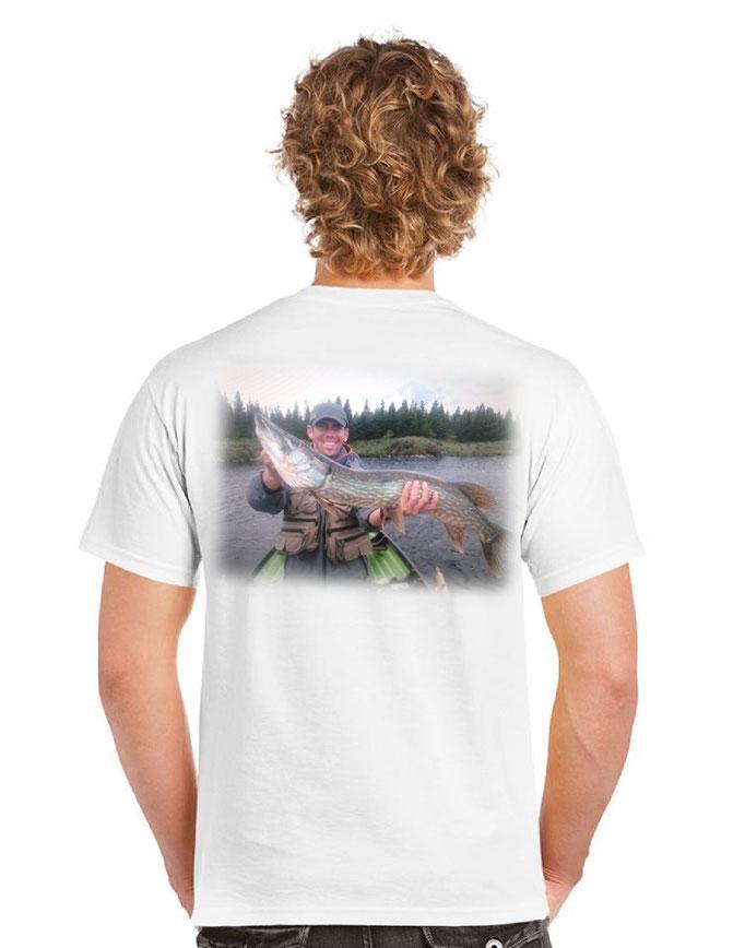 photo peche sur tee shirt