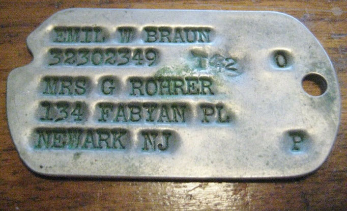 Type 1 Dog tag