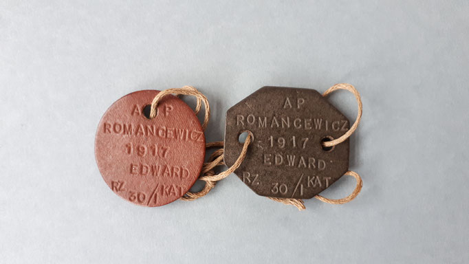 Dog tags of a Polish Paratrooper who fought at Driel, september 1944 (P. Reinders)
