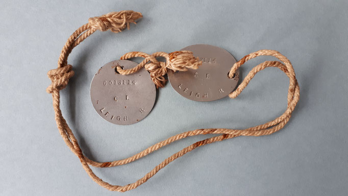 Dogs tags of a soldier of 10th Parachute Regiment who fought at Arnhem (P. Reinders)