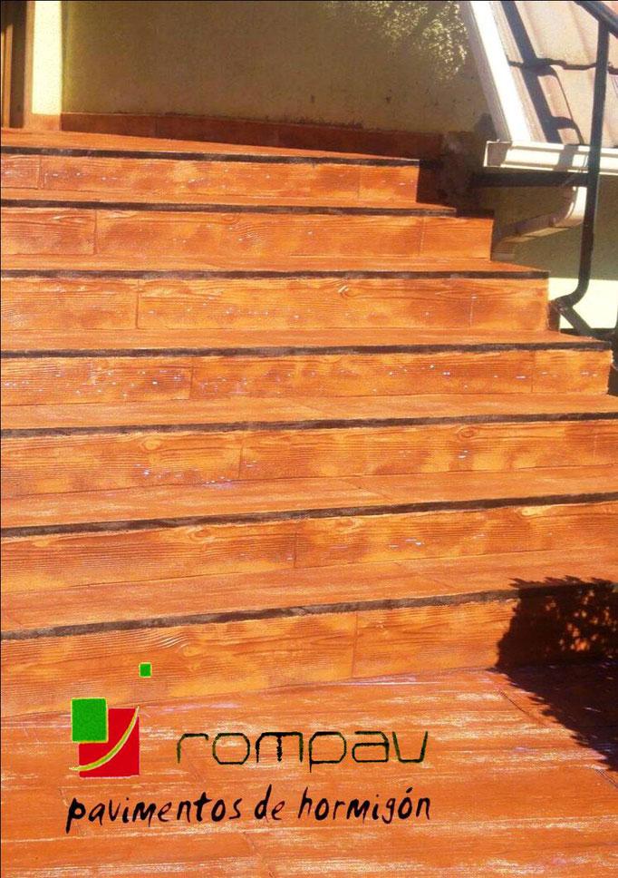 pavimentos de hormigon impreso para escaleras