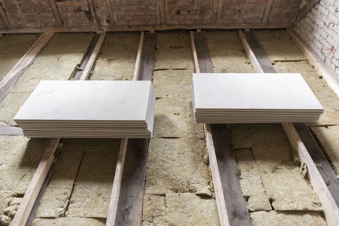 Verlegung GIFAfloor PRESTO auf Holzbalkendecken