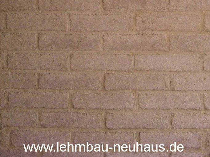 Mauerwerk aus Lehmsteinen
