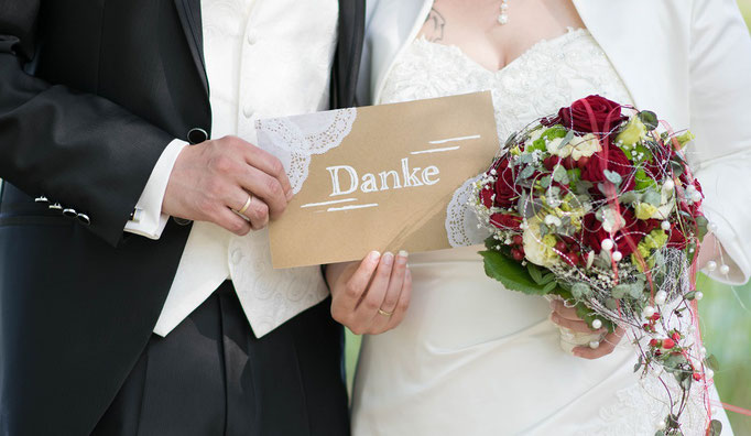 Dankeschild made by myself Fotoshooting