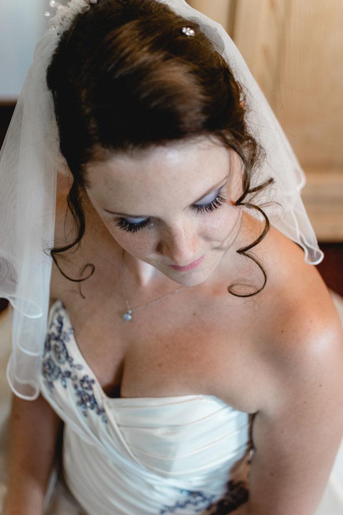 Close Up Braut mit Make-Up