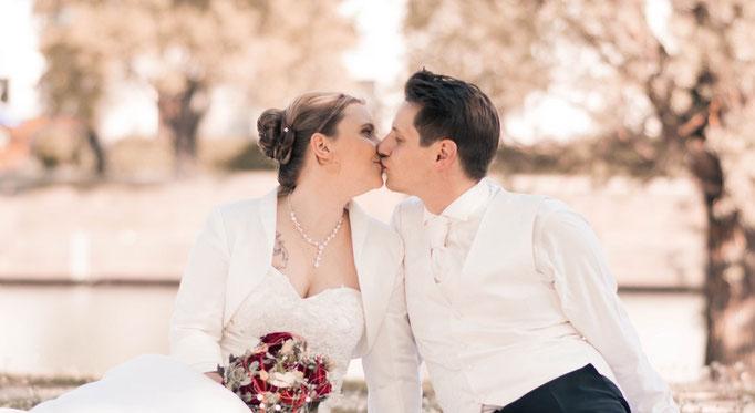 Fotoshooting Brautpaar in Regensburg Bayern