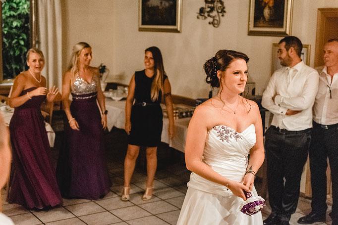 Brautstraußwerfen Freising Hochzeit