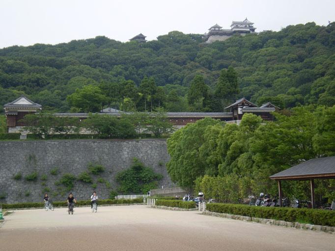 公園から松山城を望む