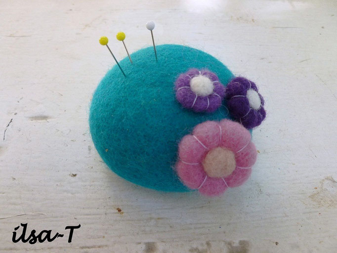 Nadelkissen Blumen