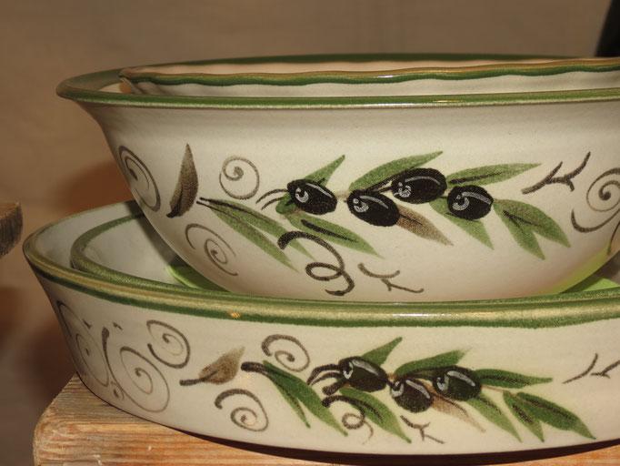 Farbe Grün mit Motiv Olive
