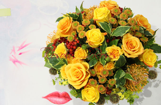 SEPTEMBRE: bouquet de roses, été indien