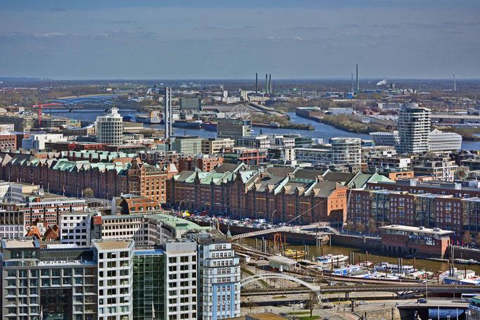 Hamburg City mit Speicherstadt/HafenCity